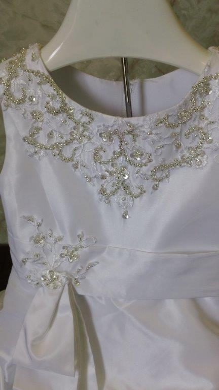 Infant wedding gown for Matching wedding and flower girl dresses