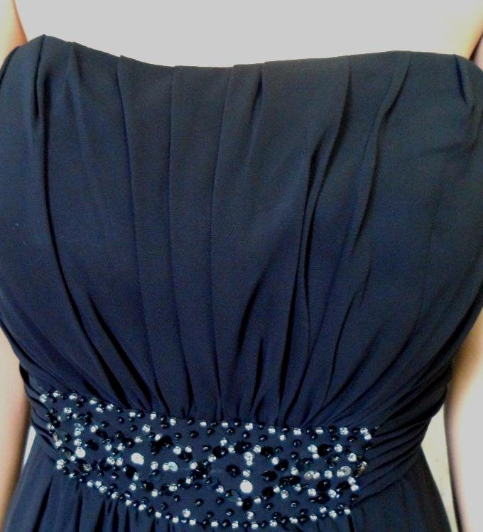 strapless Beaded empire bridesmaid dress