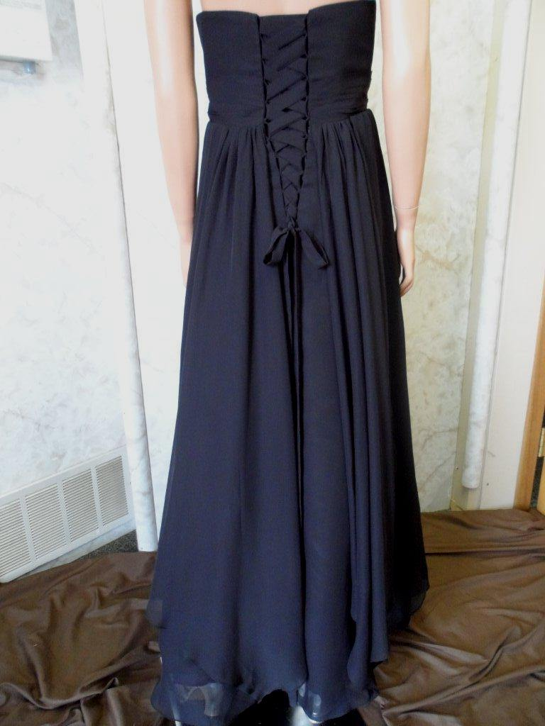 Black handkerchief dress bridesmaid strapless beaded empire bridesmaid dress beaded empire dress handkerchief dress with corset back ombrellifo Choice Image