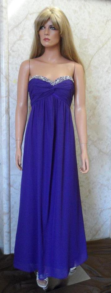 blue chiffon bridesmaid