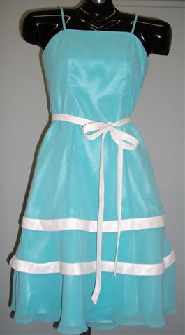 pool blue junioir bridesmaid dress