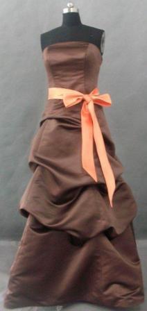brown bridesmaid pickup dresses