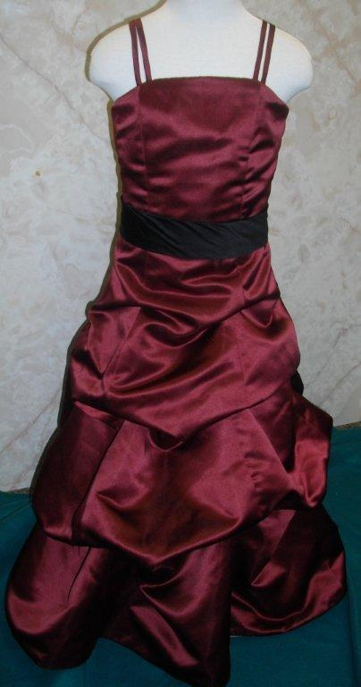 merlot and black bridesmaid dress