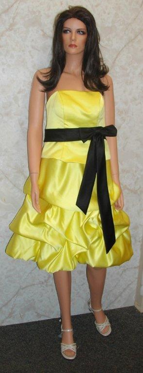 Black And Yellow Bridesmaid Dresses