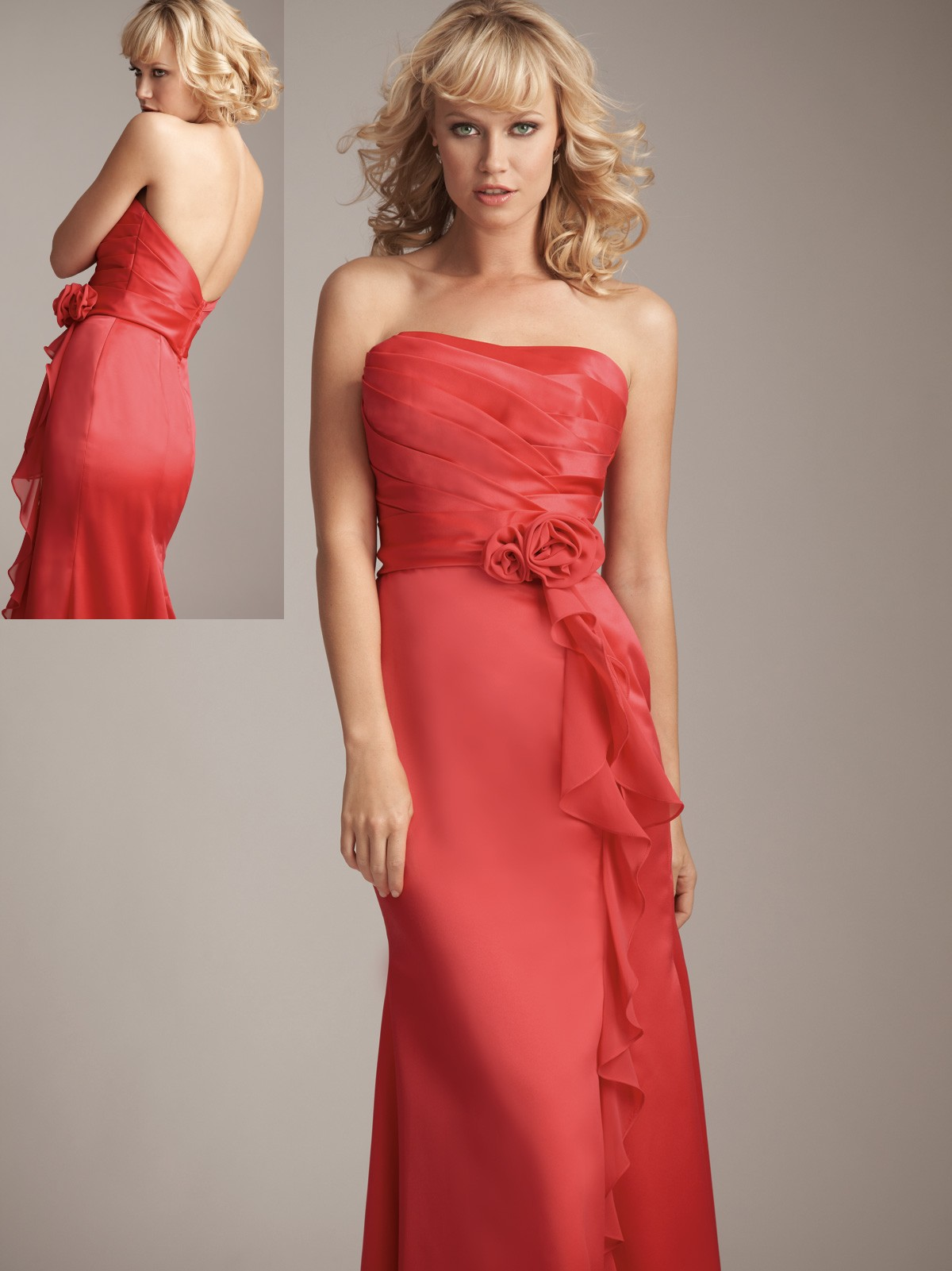 Custom made wedding party dresses persimmon bridesmaid dresses ombrellifo Gallery