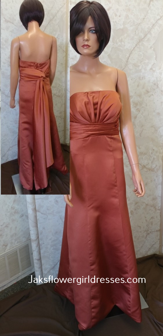 Custom made Orange bridesmaid dresses.