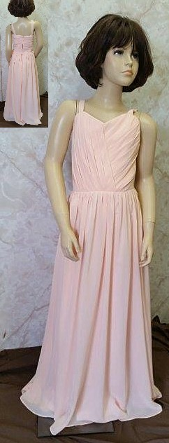 sherbet bridesmaid dresses