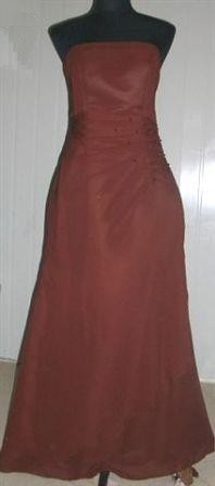 long chocolate sheath dress