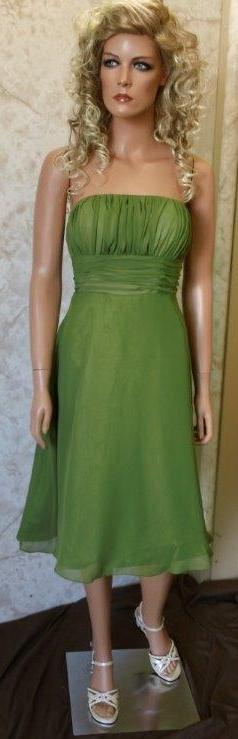 Olive green chiffon bridesmaid dresses
