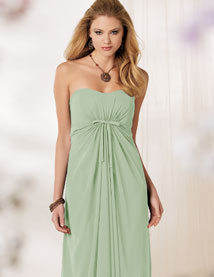 pistachio chiffon dress