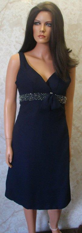 navy chiffon mother of the bride dress