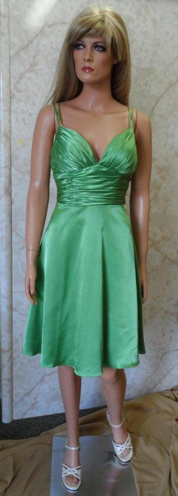 sea green short bridesmaid dress