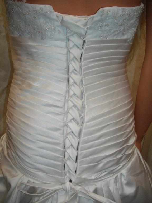 pleated corset back