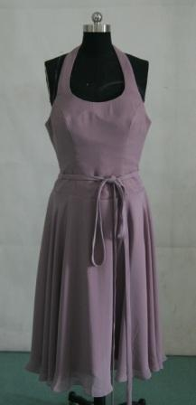 Lavender short chiffon halter dress