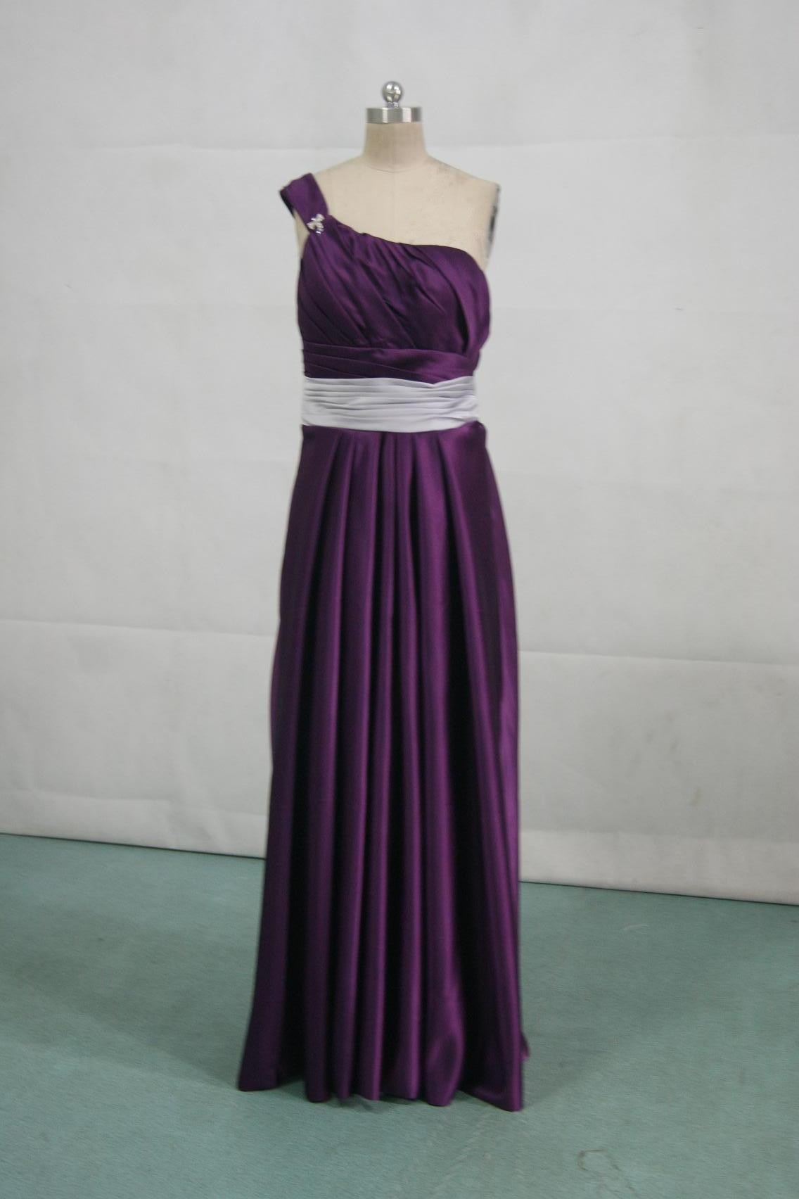 Dark Purple And Silver Bridesmaid Dresses - Amore Wedding Dresses