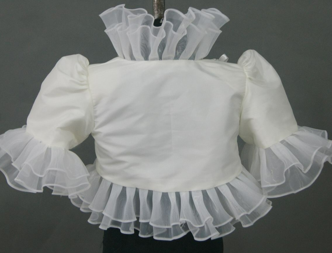 Bolero Jacket with Ruffled Edge
