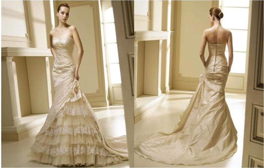 Strapless Mermaid Wedding Gown: Mermaid Wedding Dresses