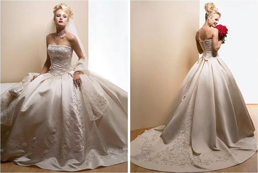 Wedding ball gowns.