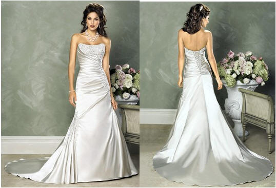 ruched wedding dresses