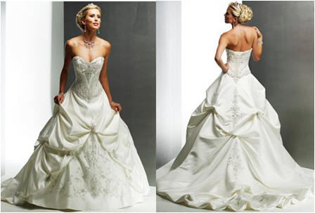 pick up sweetheart wedding dress