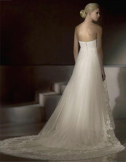 strapless wedding gown