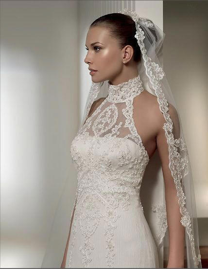 halter wedding gown lace wedding gown mermaid wedding dress