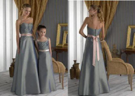 Pewter Junior Bridesmaid Dresses