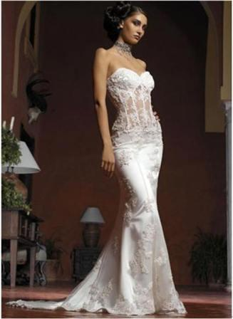 see through corset bridal wedding dress