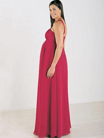Bridesmaid maternity gown