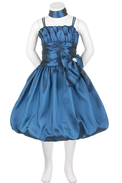 teal girls party dress