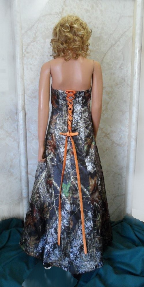 long camouflage prom dress