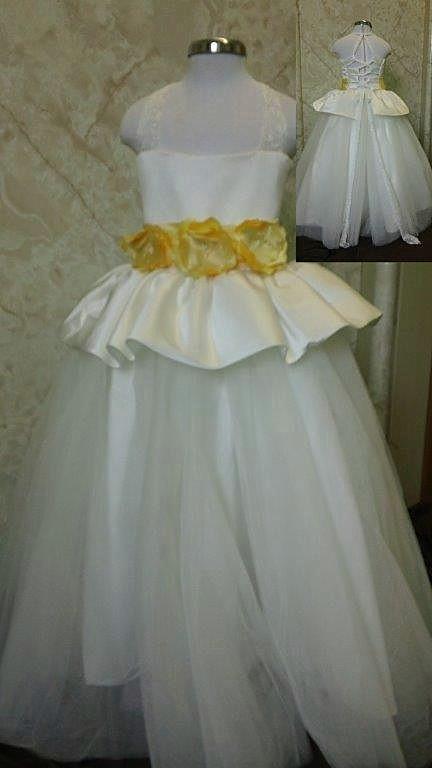 Wedding dresses and matching flower girl dress for Matching wedding and flower girl dresses