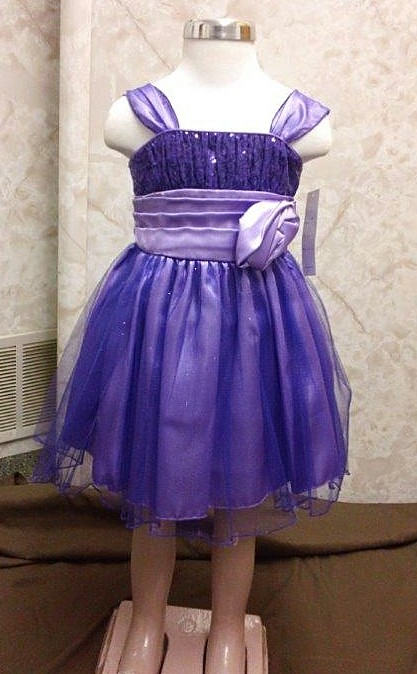 purple toddler Christmas dress