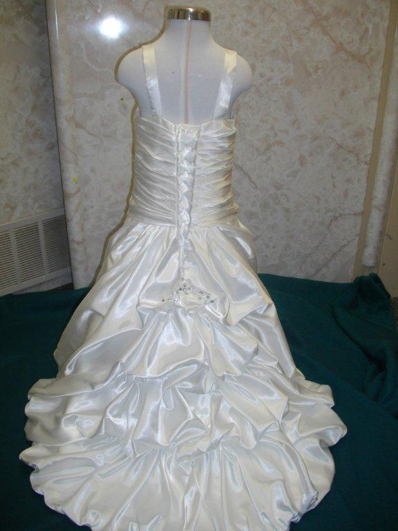 Crystal beaded miniature wedding gown for Bubble skirt wedding dress