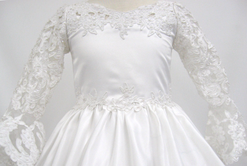 communion dress with long sleeves