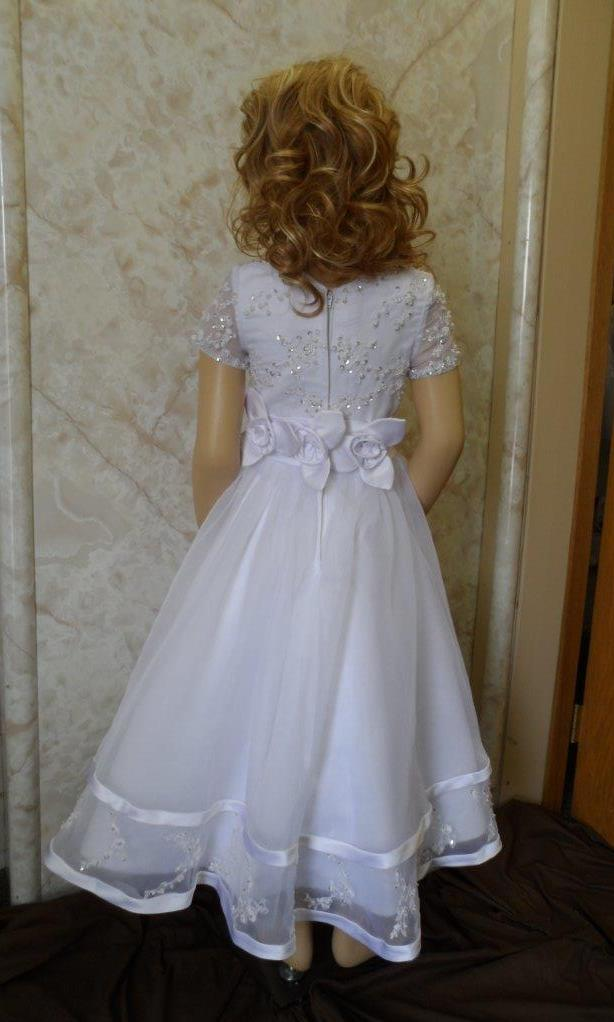 Communion Dresses Short Sleeve