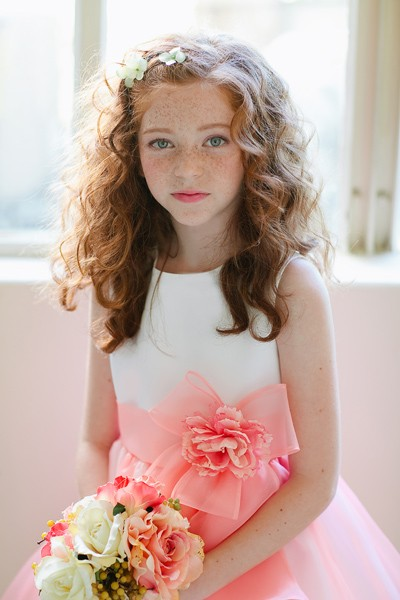 ee6258599f white and yellow flower girl dress