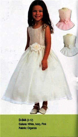 Organza childs dress in white