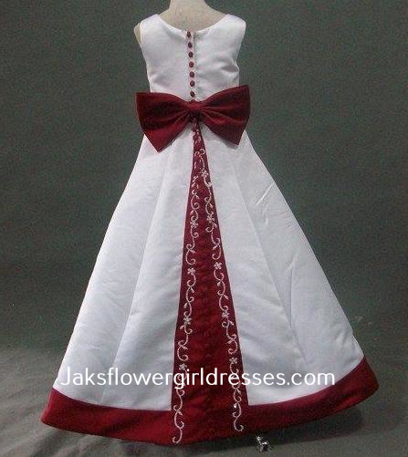 Girls black and white dress - Button Bow Dress.