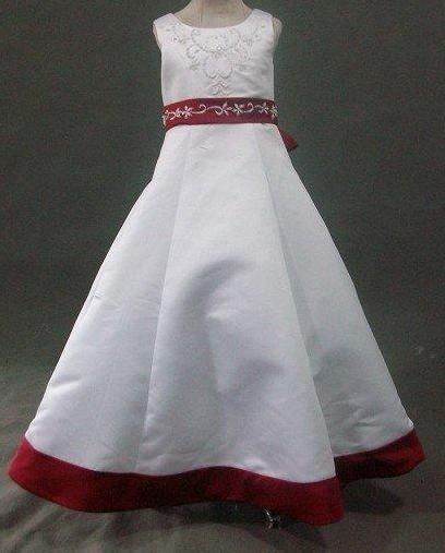 Girls black and white dress button bow dress sleeveless flower girls dress white flower girl pageant dress with red trim mightylinksfo Gallery