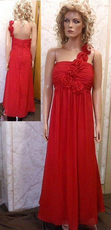 779ca0888e1 red one shoulder bridesmaid dress.
