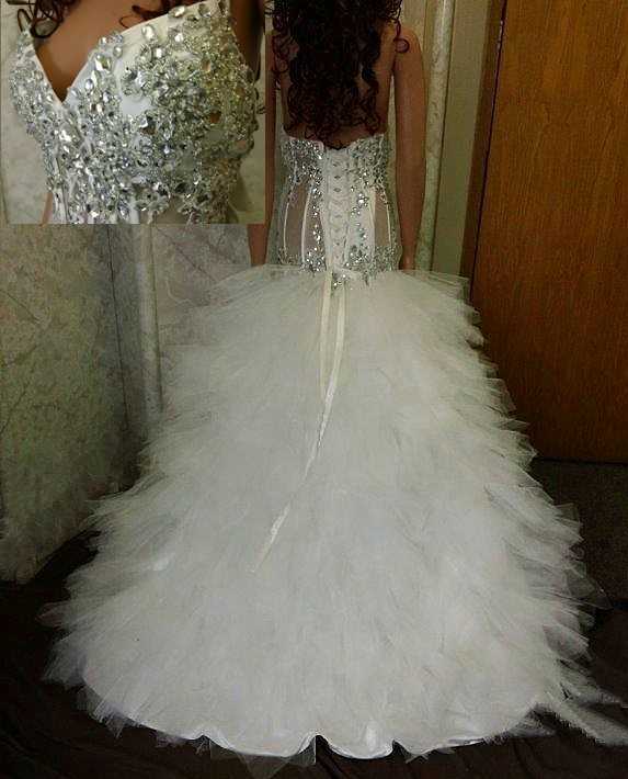Wedding| Sheer Wedding Dress | Jeweled.