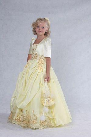 yellow pageant dress and jacket
