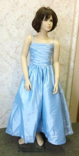 taffeta baby blue size 10 flower girl dress