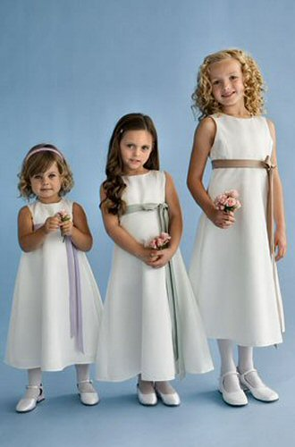5aa803d5938 white girls infant flower girl dresses with contrasting bow.