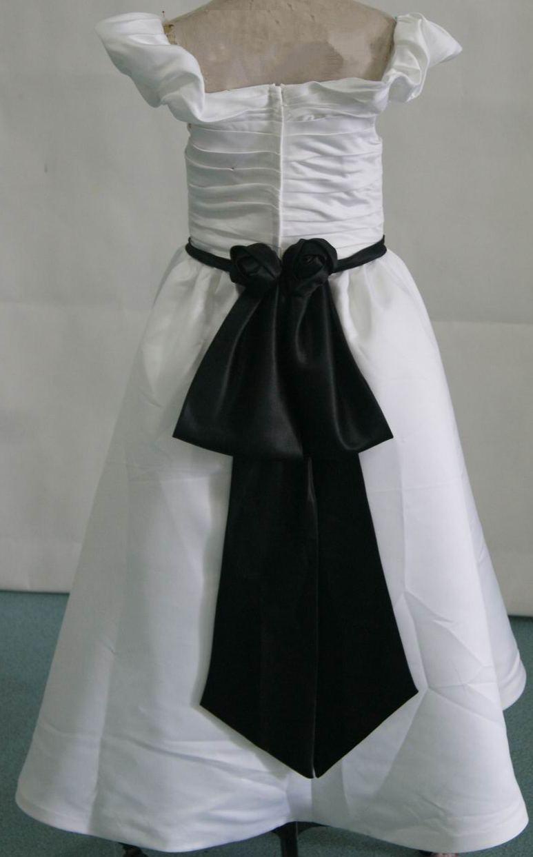 Flower girl dresses below wholesale cheap cheap little girl dresses white dress with black sash izmirmasajfo