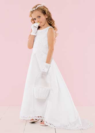 Discount communion dresses with train