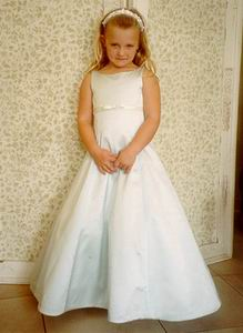Flower girl dresses in custom colors to match bridesmaid dresses
