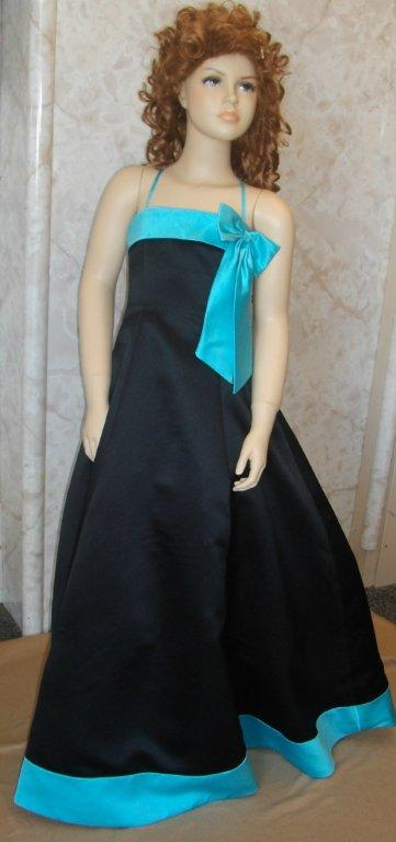 Black Turquoise Bridesmaid Dresses