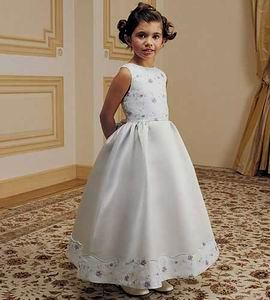 White with lavender sage flower girl dress $50